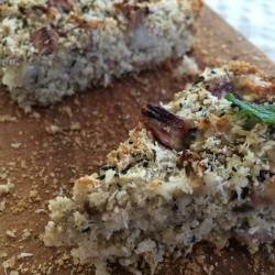 6月 torta di riso(発芽モード玄米100%ケーキ 新茶+バナナ)