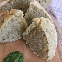 4月パン ひよこ豆+セロリペーストフォカッチャ