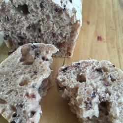 8月パン 黒紫米入りブレッド 黒紫米入り蒸しパン