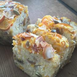 3月 torta di riso(発芽モード玄米パウンドケーキ)タンカン+リンゴ