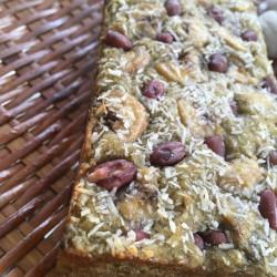 5月 torta di riso(発芽モード玄米パウンドケーキ)よもぎバナナ小豆