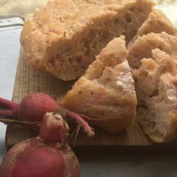 11月パン focaccia(山かぶらとマスタードシードのフォカッチャ)